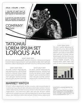 Utilities/Industrial: Modelo de Newsletter - engrenagens mecânicas #04219