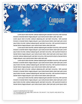 Winter Theme Letterhead Template, 04220, Holiday/Special Occasion — PoweredTemplate.com