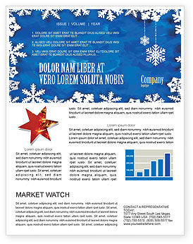Winter Theme Newsletter Template, 04220, Holiday/Special Occasion — PoweredTemplate.com