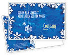 Holiday/Special Occasion: Winter Theme Postcard Template #04220