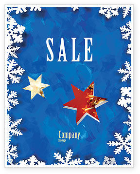 Winter Theme Sale Poster Template, 04220, Holiday/Special Occasion — PoweredTemplate.com