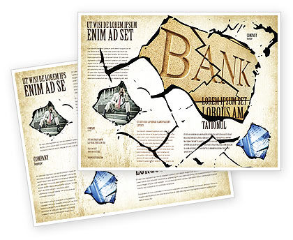 Bank Bankruptcy Brochure Template