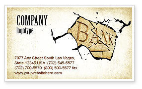 Bank Bankruptcy Business Card Template