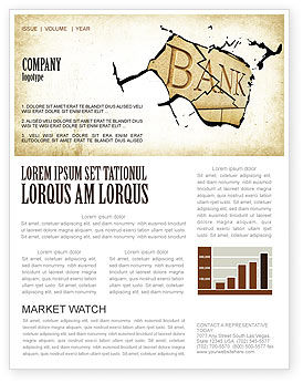 Bank Bankruptcy Newsletter Template, 04221, Financial/Accounting — PoweredTemplate.com