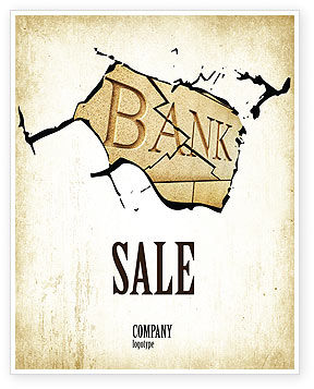 Bank Bankruptcy Sale Poster Template, 04221, Financial/Accounting — PoweredTemplate.com