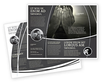 Sorrow Brochure Template, 04222, People — PoweredTemplate.com