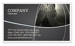 Sorrow Business Card Template, 04222, People — PoweredTemplate.com