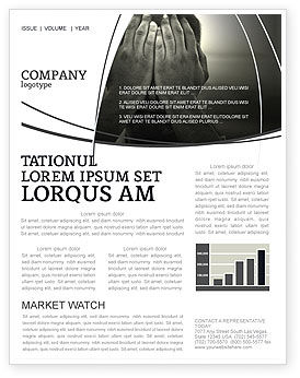 Sorrow Newsletter Template, 04222, People — PoweredTemplate.com