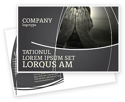 Sorrow Postcard Template