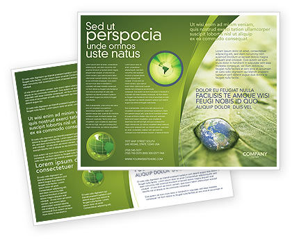 Nature & Environment: Water Drop Brochure Template #04223