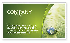 Nature & Environment: Water Drop Business Card Template #04223