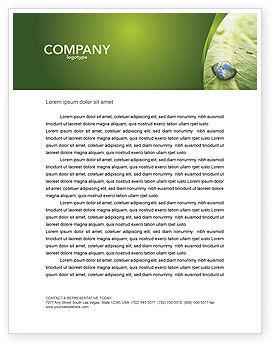 Nature & Environment: Modèle de Papier à en-tête de goutte d'eau #04223