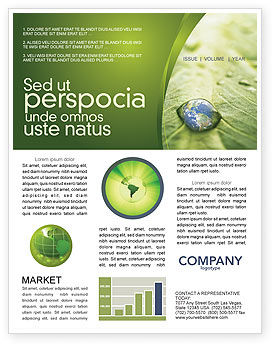Nature & Environment: Water Drop Newsletter Template #04223