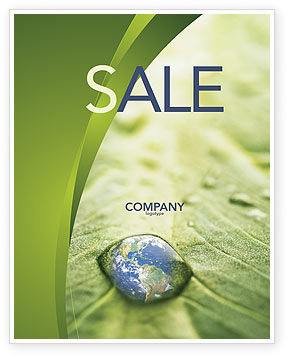Nature & Environment: Water Drop Sale Poster Template #04223