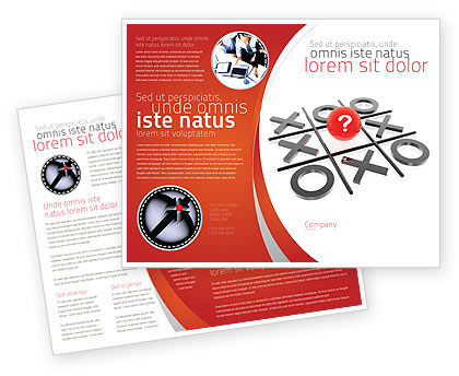 Tic-tac-toe Brochure Template, 04226, Consulting — PoweredTemplate.com