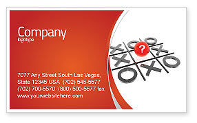 Tic-tac-toe Business Card Template, 04226, Consulting — PoweredTemplate.com