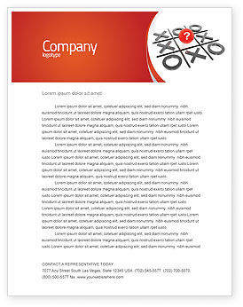 Tic-tac-toe Letterhead Template, 04226, Consulting — PoweredTemplate.com