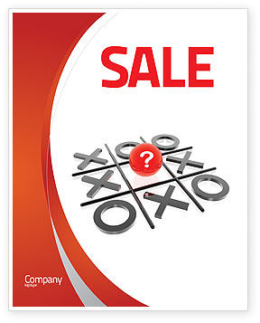 Tic-tac-toe Sale Poster Template, 04226, Consulting — PoweredTemplate.com