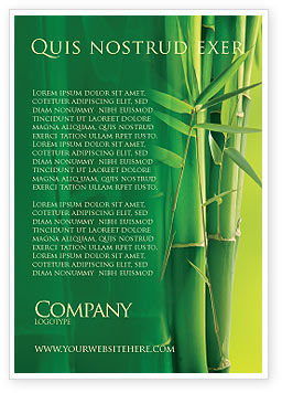 Nature & Environment: Bamboo Grove Ad Template #04227
