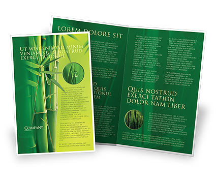 Bamboo Grove Brochure Template, 04227, Nature & Environment — PoweredTemplate.com