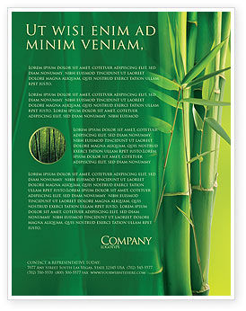 Bamboo Grove Flyer Template, 04227, Nature & Environment — PoweredTemplate.com