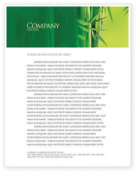 Nature & Environment: Bamboo Grove Letterhead Template #04227