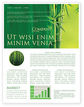 Bamboo Grove Newsletter Template, 04227, Nature & Environment — PoweredTemplate.com