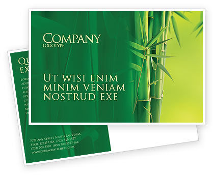 Nature & Environment: Bamboo Grove Postcard Template #04227