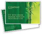 Nature & Environment: Bamboo Grove Postcard Template #04227