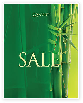 Nature & Environment: Bamboo Grove Sale Poster Template #04227