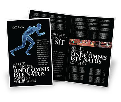 Start Position Brochure Template, 04229, Sports — PoweredTemplate.com