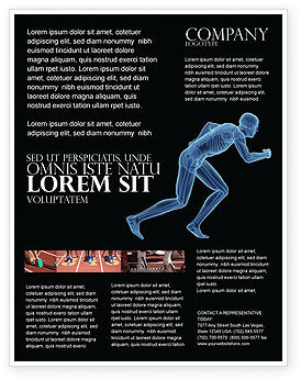 Start Position Flyer Template, 04229, Sports — PoweredTemplate.com