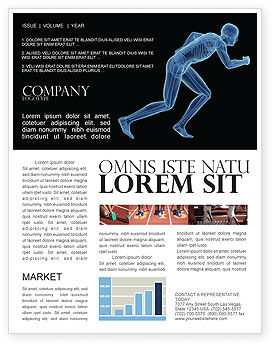 Start Position Newsletter Template, 04229, Sports — PoweredTemplate.com