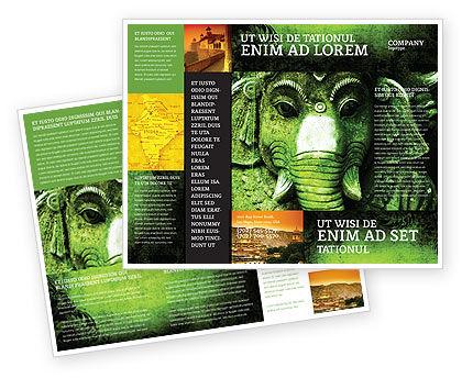 Flags/International: Altes indien Broschüren Vorlage #04230