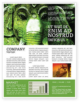 Flags/International: Ancient India Newsletter Template #04230