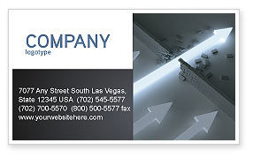 Blowout Business Card Template, 04232, Consulting — PoweredTemplate.com