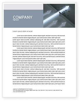 Blowout Letterhead Template, 04232, Consulting — PoweredTemplate.com