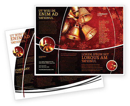 Christmas Bells Brochure Template, 04233, Holiday/Special Occasion — PoweredTemplate.com