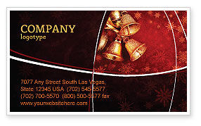 Holiday/Special Occasion: Christmas Bells Business Card Template #04233