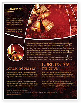 Holiday/Special Occasion: Christmas Bells Flyer Template #04233