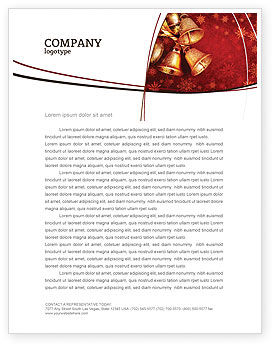 Holiday/Special Occasion: Christmas Bells Letterhead Template #04233