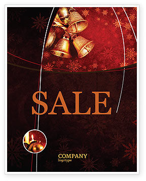 Holiday/Special Occasion: Christmas Bells Sale Poster Template #04233