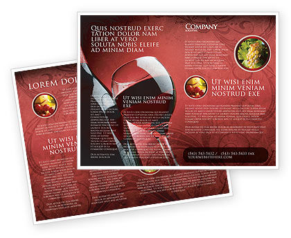 Wine glass brochure template design and layout download for Wine brochure template