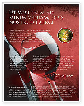 Wine glass flyer template background in microsoft word for Wine brochure template