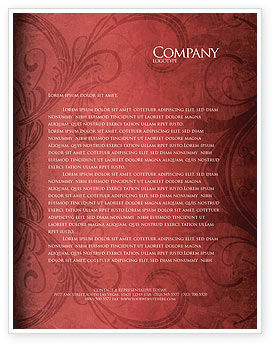 Wine Glass Letterhead Template, 04235, Food & Beverage — PoweredTemplate.com