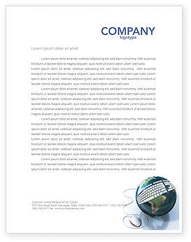 Install Internet Connect Letterhead Template, 04236, Technology, Science & Computers — PoweredTemplate.com