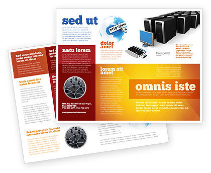 System Administration Brochure Template, 04238, Technology, Science & Computers — PoweredTemplate.com