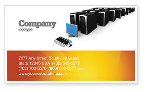 Technology, Science & Computers: System Administration Business Card Template #04238