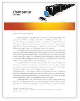 Technology, Science & Computers: System Administration Letterhead Template #04238