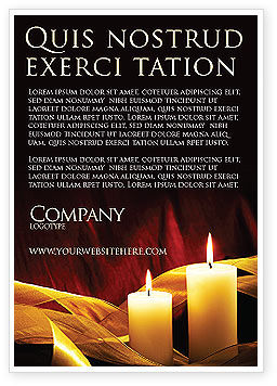 Religious/Spiritual: Candle Light Ad Template #04239